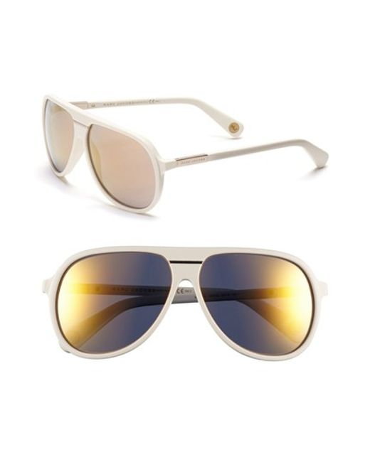 Marc jacobs 60mm Aviator Sunglasses in Beige (IVORY)