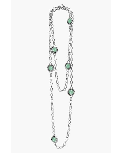 Lagos | Green 'maya' Long Station Necklace | Lyst