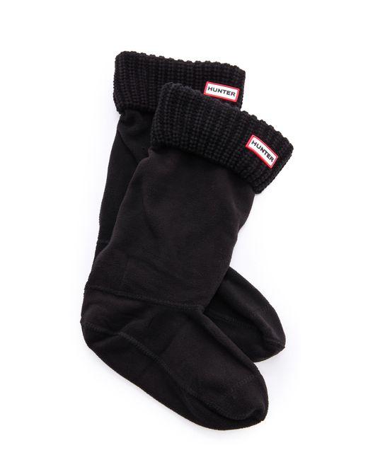 Hunter | Black Half Cardigan Boot Socks - Slate | Lyst