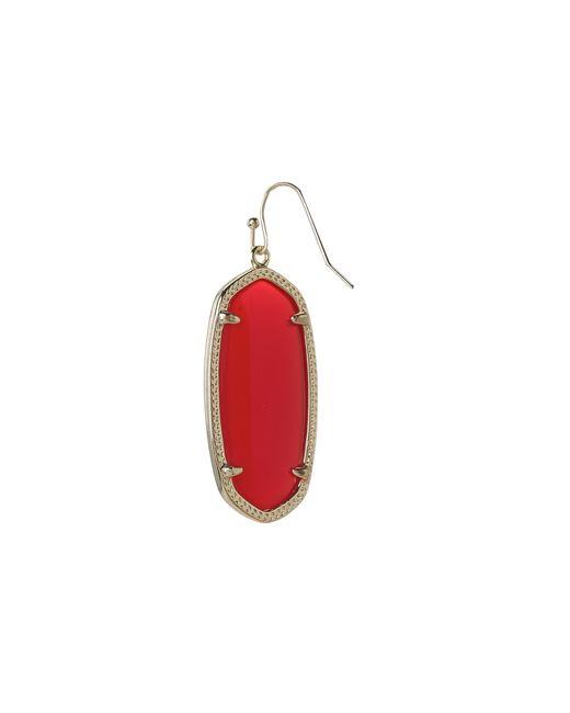 Kendra Scott | Red Elle Earrings | Lyst