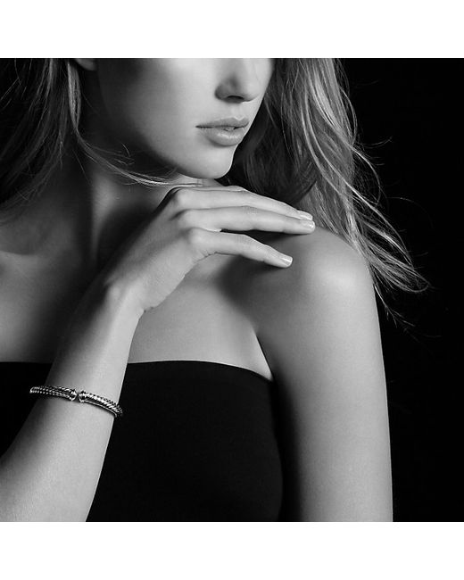 David Yurman   Metallic Cable Spira Bracelet With 18k Gold, 7mm   Lyst