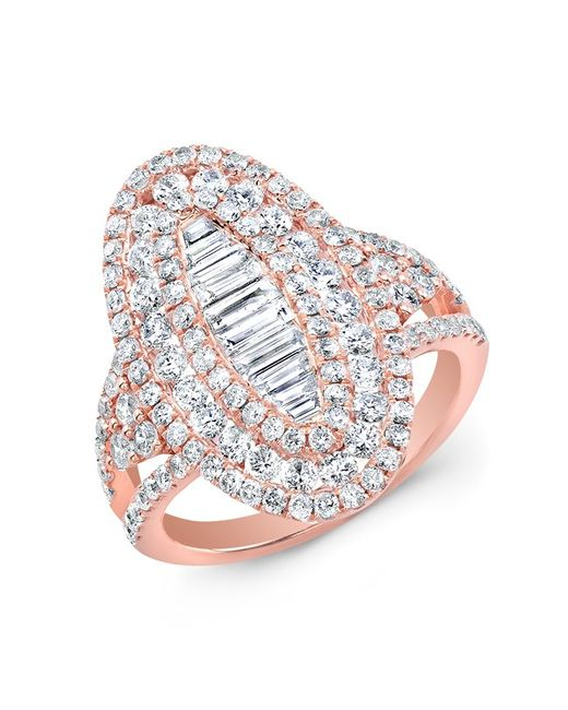 Anne Sisteron | Pink 14kt Rose Gold Baguette Diamond Era Ring | Lyst
