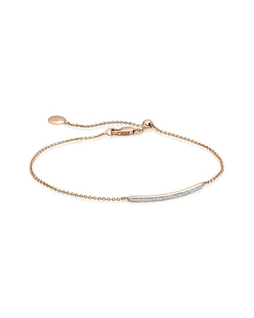 Monica Vinader | Pink Skinny Short Bar Bracelet | Lyst