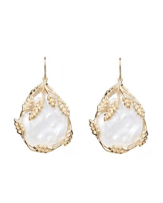 Aurelie Bidermann | Metallic Francoise Mother-of-pearl & Gold-plated Earrings | Lyst