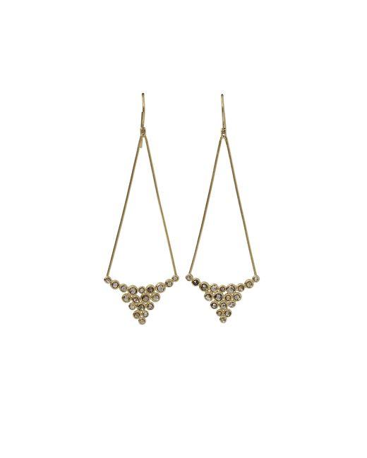 Todd Reed | Metallic Brown Diamond Drop Earrings | Lyst