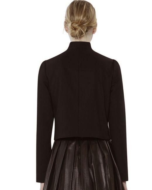 Alice Olivia Addison Bow Collar Crop Jacket In Black Lyst