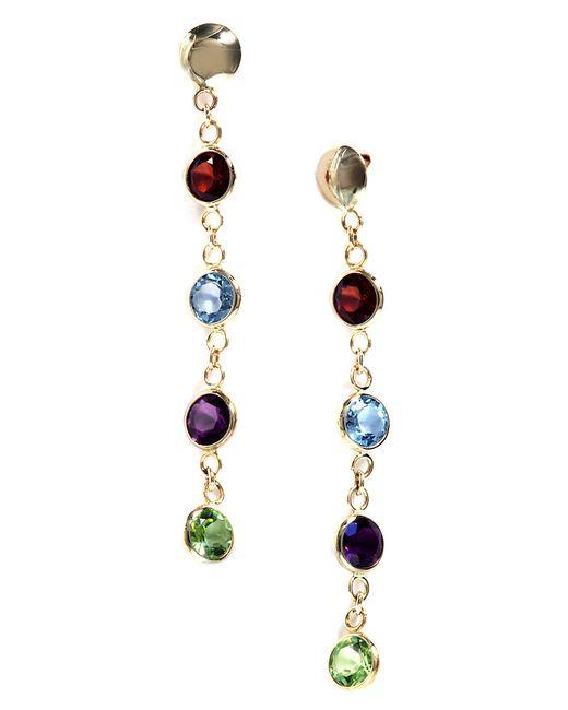 Effy | Blue Semi-precious, Multi-stone And 14k Yellow Gold Drop Earrings | Lyst