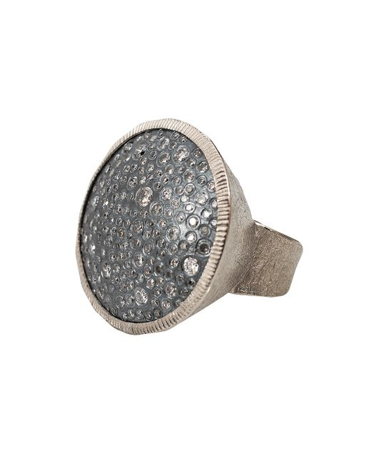 Todd Reed | Silver Diamond Pave Circle Ring | Lyst