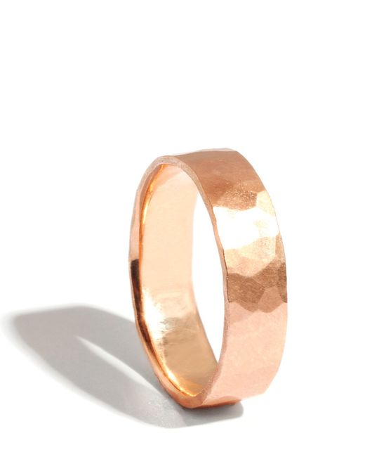 Melissa Joy Manning | Metallic 14k Rose Gold Hammered Texture 6mm Ring | Lyst