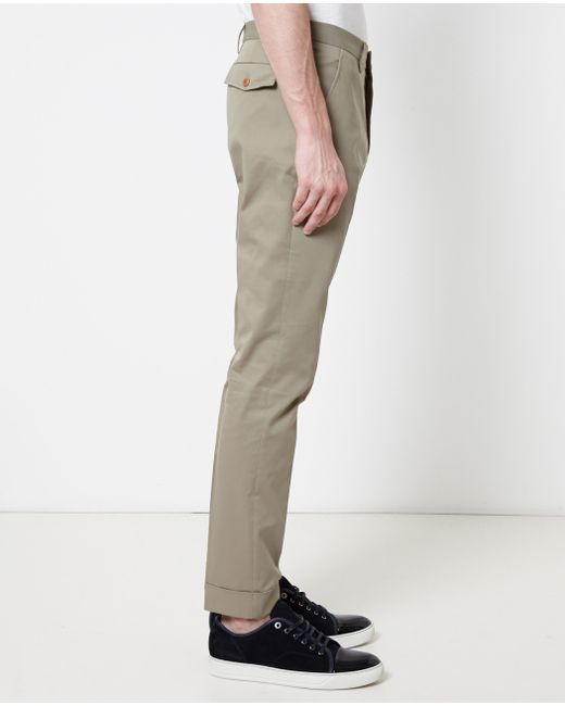 Gucci | Natural Turn-up Cuff Trousers for Men | Lyst
