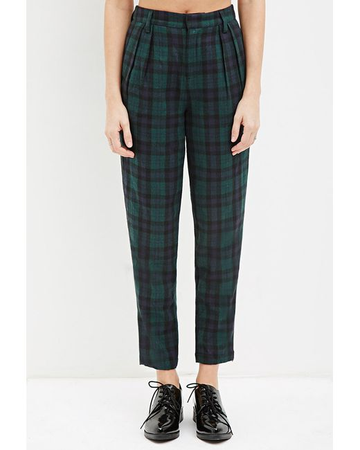 Forever 21 | Green Tartan Plaid Trousers You've Been Added To The Waitlist | Lyst
