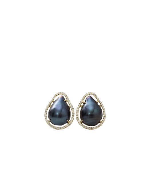 Jordan Alexander | Blue Navy Fresh Water Baroque Pearl Studs | Lyst