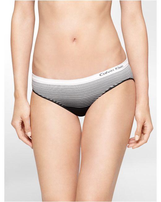 Calvin Klein   Black Underwear Seamless Illusions Striped Hipster   Lyst