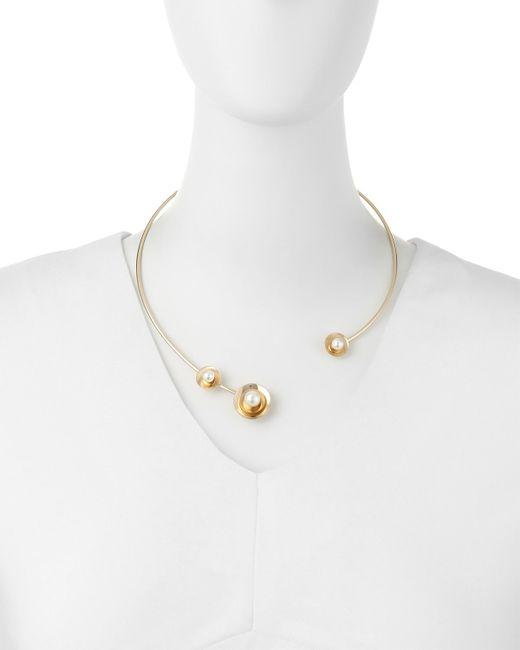 Auden   Metallic Lyra Pearly Collar Necklace   Lyst