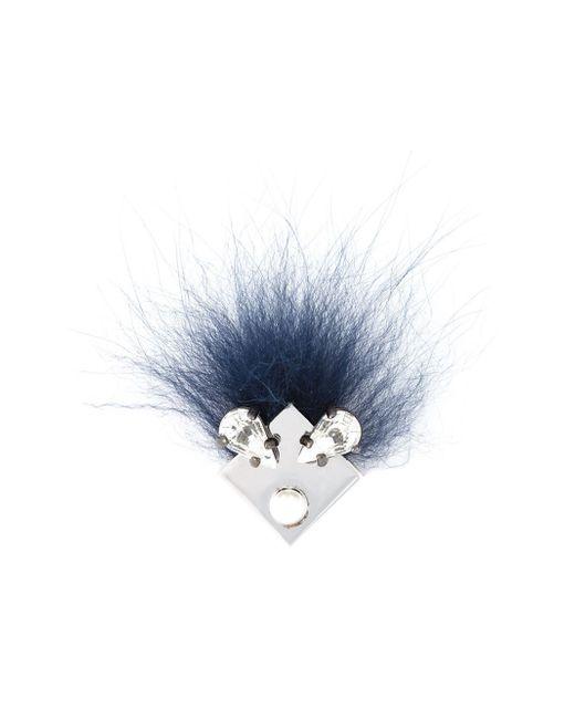 Fendi | Metallic Crystal Bugs Brooch | Lyst