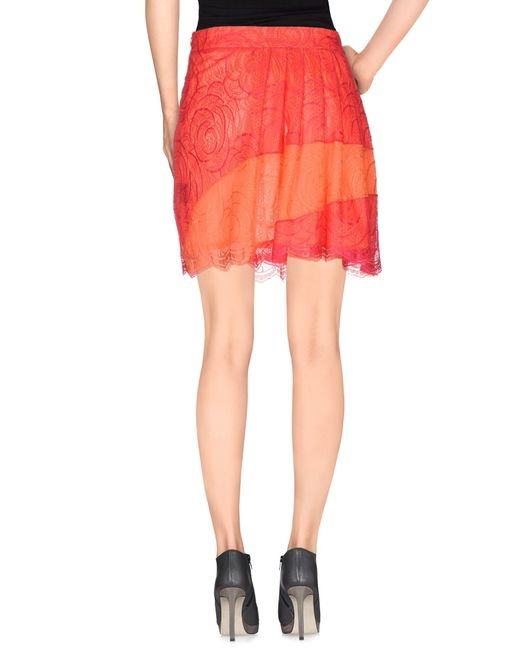 marco bologna knee length skirt in pink coral save 54
