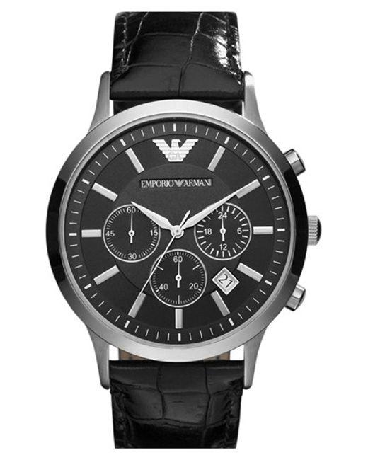 Emporio Armani   Metallic Stainless Steel Watch for Men   Lyst