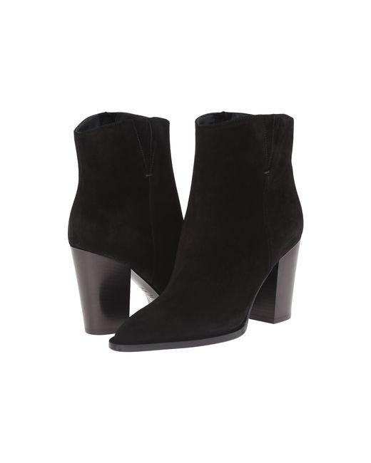 VINCE | Black Erving Suede Ankle Boots | Lyst