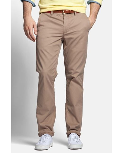 Bonobos | Brown Slim Fit Washed Chinos for Men | Lyst