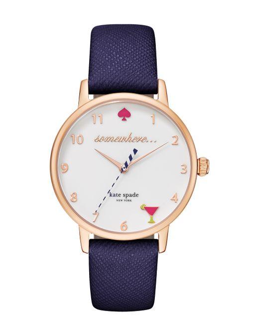 kate spade new york | Blue 5 O'clock Metro Watch | Lyst