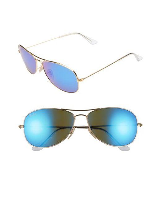 Ray-Ban | Metallic 'new Classic' 59mm Aviator Sunglasses | Lyst