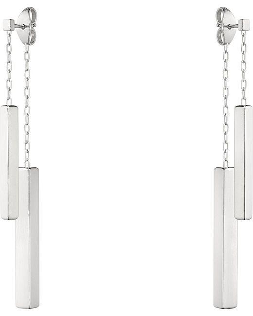 Georg Jensen | Metallic Aria Double Bar Sterling Silver Earrings | Lyst