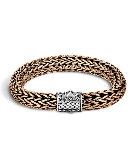 John Hardy | Metallic Men's Two-tone Woven Chain Bracelet for Men | Lyst
