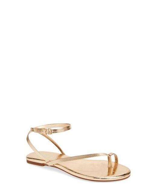 Splendid | Metallic 'marbeya' Ankle Strap Sandal | Lyst