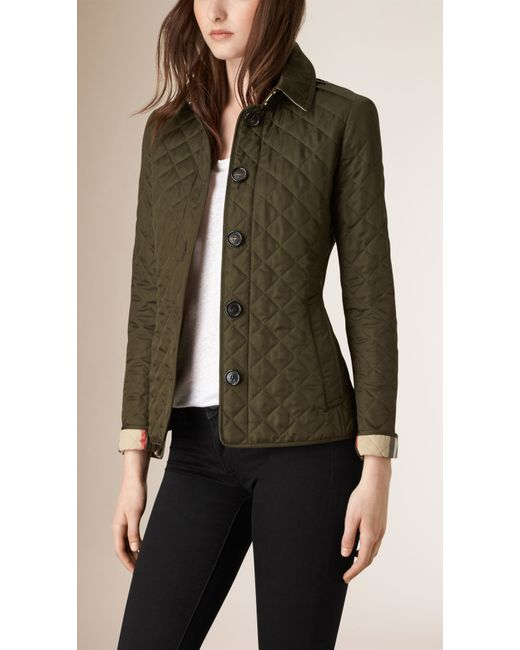 Burberry Mens Diamond Quilted Jacket