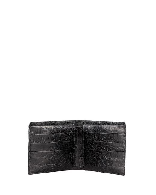 Santiago Gonzalez | Black Crocodile Bi-fold Wallet for Men | Lyst