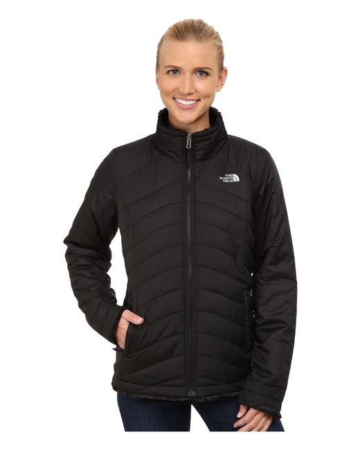 The North Face Mossbud Swirl Reversible Jacket In Black