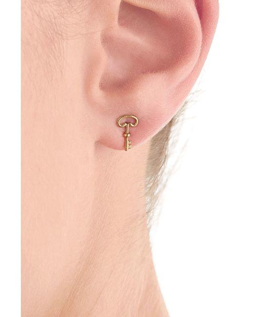 Aurelie Bidermann   Metallic 18kt Yellow Gold Key Earring   Lyst