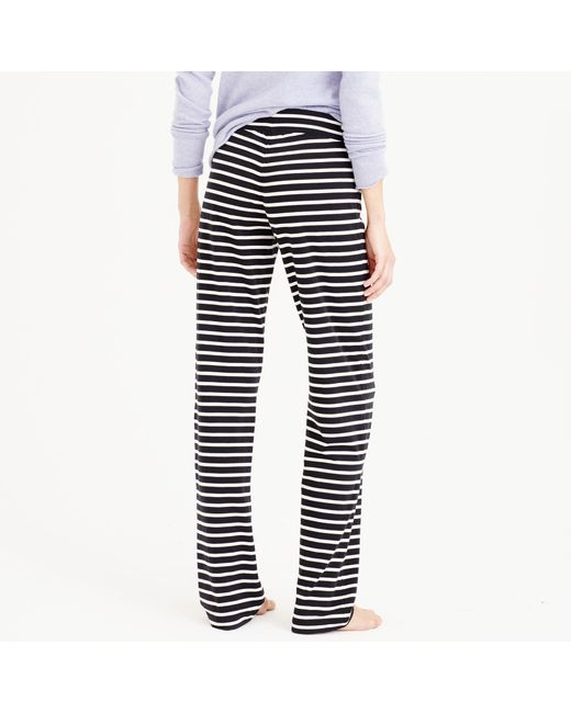 J.Crew | Black Dreamy Cotton Pant In Stripe | Lyst