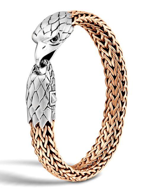 John Hardy Men S Silver Bronze Eagle Head Chain Bracelet