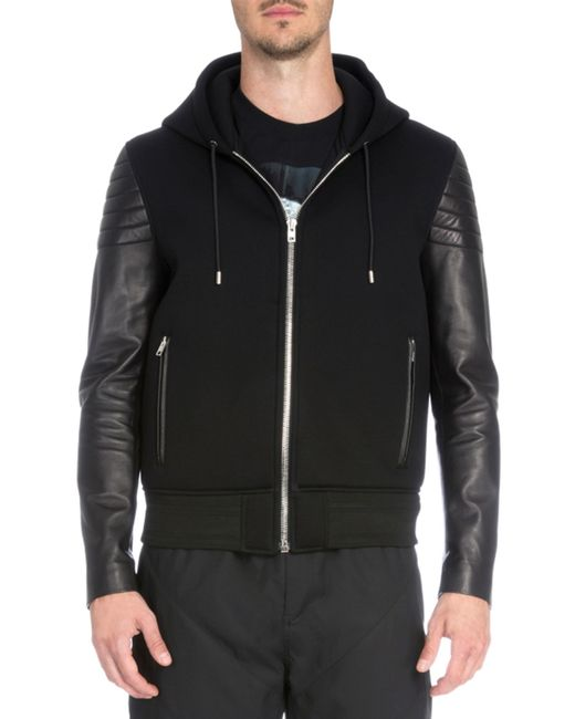 Buy Vince Women's Black Leather Zip Up Hoodie. Similar products also available. SALE now on!