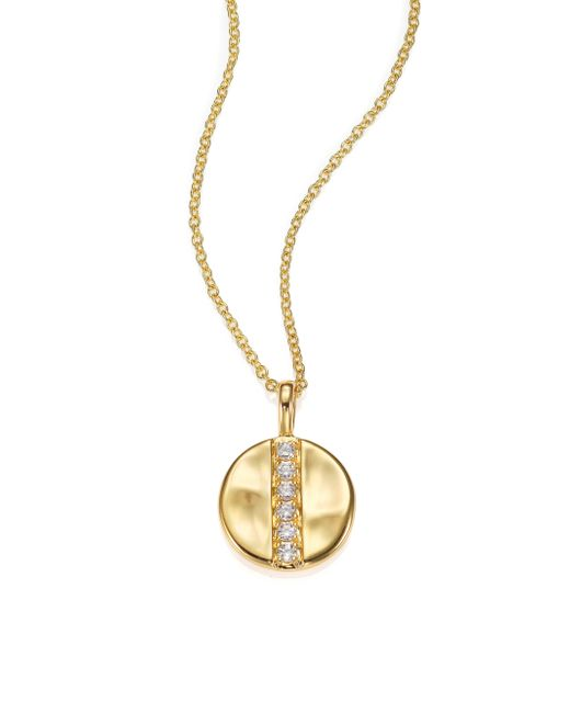 Ippolita | Metallic Glamazon Diamond & 18k Yellow Gold Mini Disc Pendant Necklace | Lyst