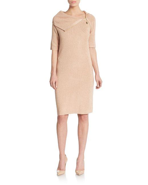 Calvin Klein | Pink Lurex-detailed Sweater Dress | Lyst