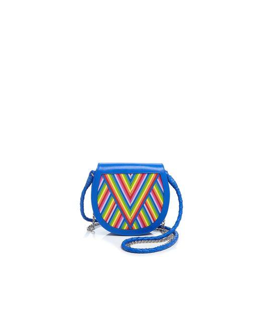 lili radu rainbow saddle bag in blue blue rainbow save 20 lyst. Black Bedroom Furniture Sets. Home Design Ideas