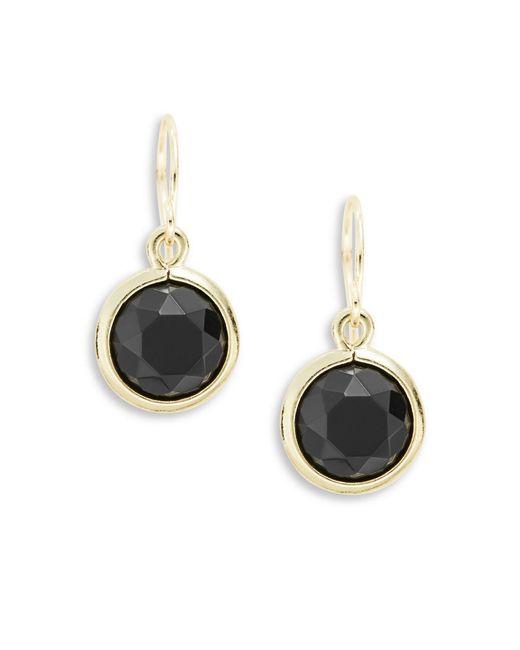 Anne Klein | Metallic Faceted Drop Earrings | Lyst