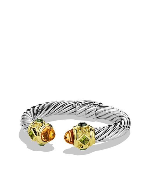 David Yurman | Metallic Renaissance Bracelet With Citrine, Iolite, And Gold, 10mm | Lyst