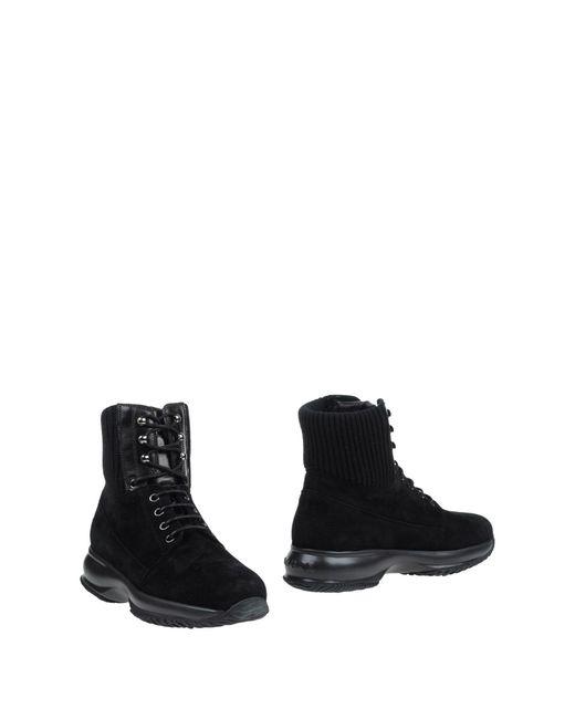 Hogan | Black Ankle Boots | Lyst