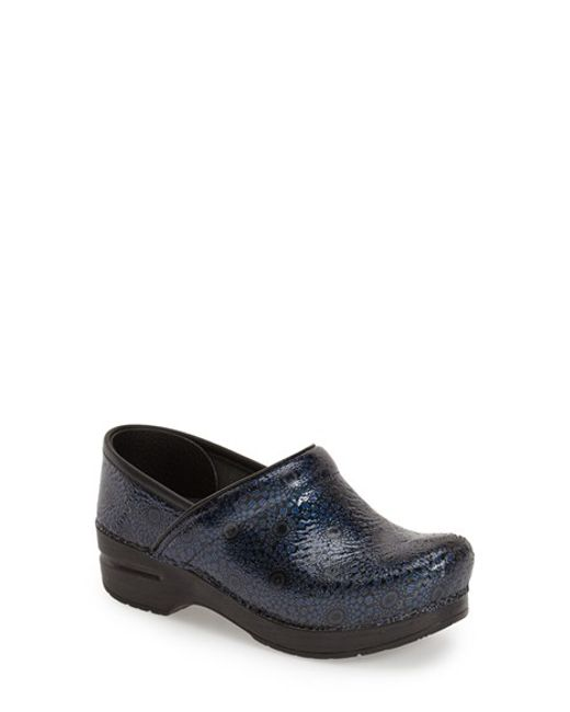 Dansko | Blue Stapled Collection Professional Leather Clog | Lyst