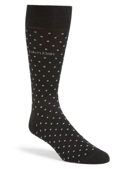 Calvin Klein | Black Dot Socks for Men | Lyst