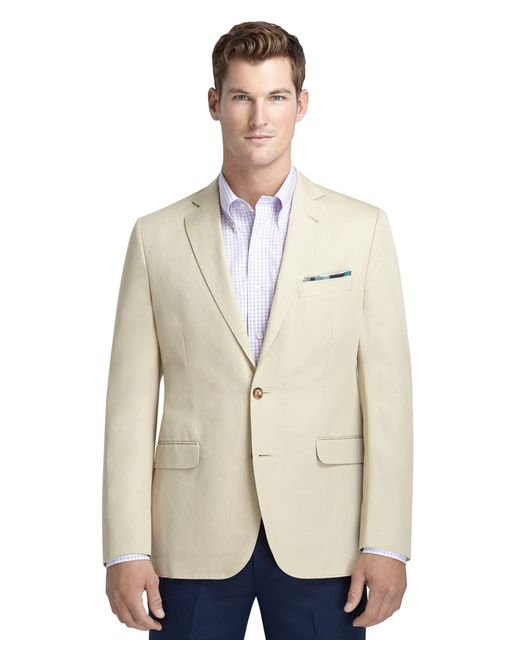 Brooks Brothers | Natural Fitzgerald Fit Cotton And Linen Sport Coat for Men | Lyst