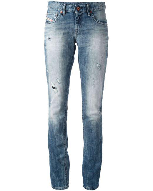 DIESEL | Blue Cherock Regular Slim-bootcut Jean | Lyst