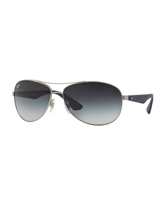 Ray Ban Silver Frame Glasses : Ray-ban Wire-frame Metal Sunglasses in Silver (ANTIQUE ...