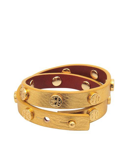 Tory Burch | Metallic Doublewrap Logo Bracelet | Lyst