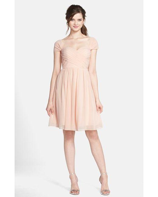 Jenny Yoo | Pink 'riley' Convertible Chiffon Dress | Lyst