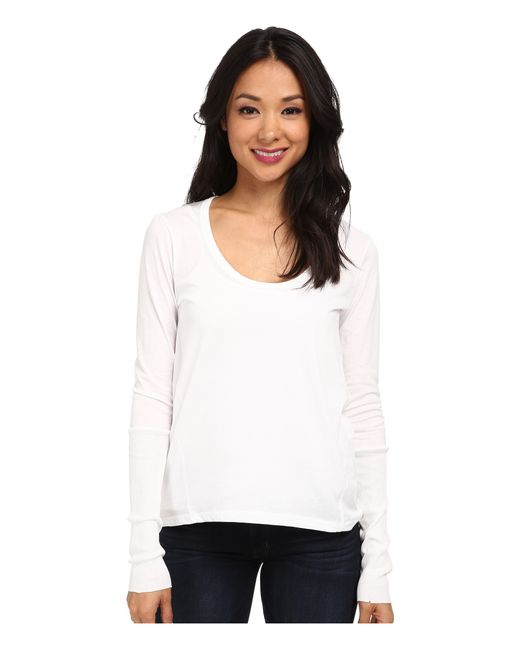 Alternative Apparel Scoop Neck T Shirt Long Sleeve In