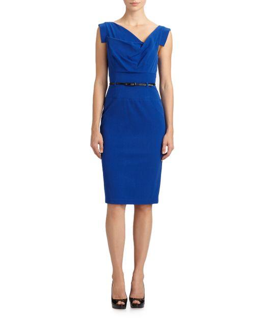 Black Halo | Blue Jackie O. Dress | Lyst